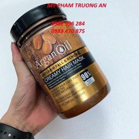 Ủ hấp tóc Creamy Hair Mask Argan Oil 1000ml và 1 kẹp - K-1000