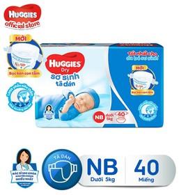 Tã dán sơ sinh Huggies Newborn NB 40 (40 miếng) - 8935107201420