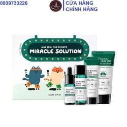 Bộ Kit 4 Sản Phẩm Dưỡng Da Giảm Mụn Some By Mi AHA-BHA-PHA 30 Days Miracle Solution - Edition