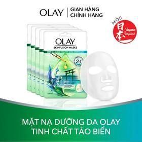 Combo 5 mặt nạ giấy sáng da tinh chất tảo biển Olay Skinfusion Mask Tinh Chất Tảo Biển - TUOL0058CB