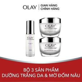 Bộ 3 sản phẩm dưỡng trắng da và mờ đốm nâu Olay White Radiance Light Perfecting - TUOL0057CB