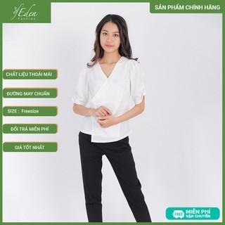 Áo Kiểu Thời Trang Eden Cổ V Tà Đắp Chéo - ASM082 - ASM082 thumbnail