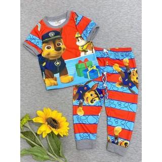 Bộ đồ tay ngắn quần dài thun 3D cho bé trai - tnqd3d thumbnail