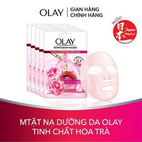 Combo 5 Mặt nạ giấy nuôi dưỡng làn da Olay Skinfusion Mask Tinh chất Hoa Trà - TUOL0059CB