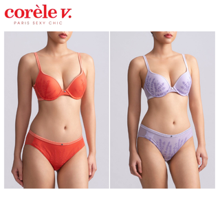 Bộ đồ lót nữ CoreleV 3241A mút dày có gọng siêu nâng ngực 3 múi tạo khe - Quần lót nữ ren 0641A lưng vừa - CB.AC3241. thumbnail