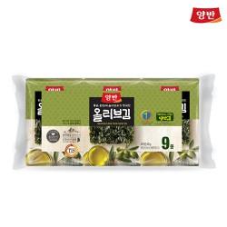 Rong Biển Ăn Liền Cao Cấp Yangban Dầu Olive Bịch 9 Gói 45.0g