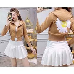 áo khoác lửng hoa cúc siêu xinh