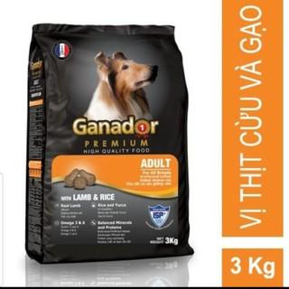 Thức ăn hạt Chó lớn Ganador 3kg vị Thịt cừu và Gạo [ĐƯỢC KIỂM HÀNG] 33834304 - 33834304 thumbnail