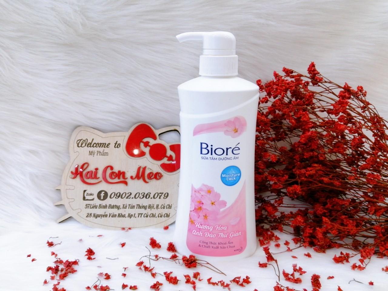 Sữa tắm dưỡng ẩm mịn da Biore hương Hoa anh đào chai 530g - 406