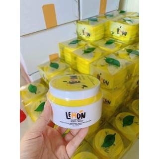 Kem Body Chanh Lemon Cực Hot - Có Hạt Vitamin Kích Trắng - 250gr - HM0131 thumbnail