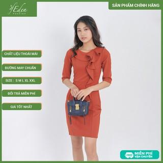 Váy Đầm Công Sở Thời Trang Eden Tay Lỡ Phối Bèo Cổ - D407 - D407 thumbnail