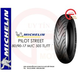 VỎ XE MÁY MICHELIN SIZE 100.80-17 TL/TT PILOT STREET