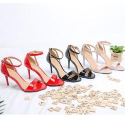 Giày Gót Nhọn 7P Da Bóng H0504