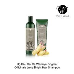 Bộ gội xả gừng Weilaiya. dành cho tóc dầu và hư tổn gội 400ml (tặng kèm set mini)