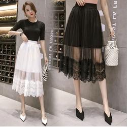 Chân váy Mullet ren hoa thời trang QKT cv09