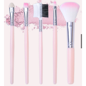 Bộ 5 cọ trang điểm mini màu hồng xinh xắn - cttmh
