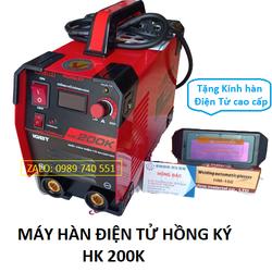 Combo máy hàn điện tử hồng ký 200K chống giật và một kính hàn điện tử cao cấp