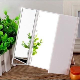 Gương trang điểm đèn led 3 mặt gấp gọn, tiện lợi, dễ sử dụng - 652 thumbnail