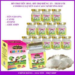 Combo 12hu yến sào cao cấp giúp trẻ hết biếng ăn chậm lớn còi cọc 15% tổ yến thiên nhiên 70ml nhân 12hu