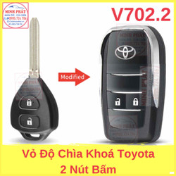 Vỏ Độ Chìa Khoá Gập xe Toyota Fortuner Vios Innova Yaris
