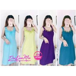 Đầm nữ – Đầm ngủ mặc nhà giá rẻ – Đầm ngủ thun lạnh