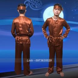 Trang phục chú Cuội, hóa trang chú Cuội, bộ đồ dân gian, truyền thống