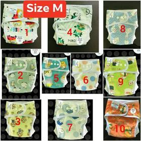 [FREESHIP+TẶNG 4 LÓT] Combo 10 Bộ Bỉm vải Babu Nature chống hăm, chống tràn (SIZE M 3-12kg, SIZE L 10-20kg) - COMBO 10 BỘ
