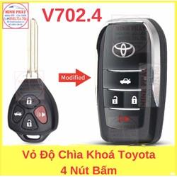 Vỏ Độ Chìa Khoá Gập xe Toyota Camry innova Vios Fortuner