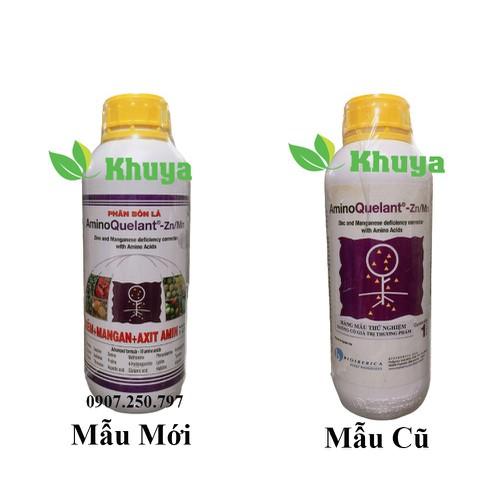 Phân bón lá growmore aminoquelant zn mn chai 1 lít cung cấp kẽm và mangan
