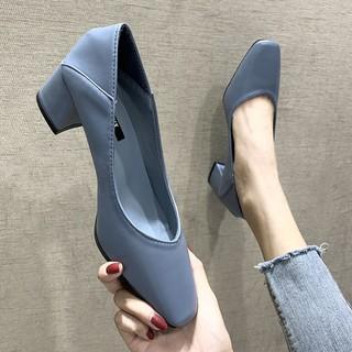 Giày Cao Gót Nữ, Đế Vuông 5 cm, Mũi Vuông Thời Trang GN17