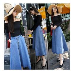 Chân váy dài jeans CV0415