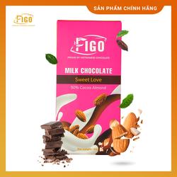 [Chính hãng] Kẹo Socola sữa nhân Hạnh nhân_Milk Chocolate Figo nhân Hạnh Nhân Thanh 50gr Sweet love QÙA TẶNG  Valentine