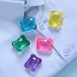 Viên giặt xả quần áo đồ vải 2 in 1 hạt hương hoa thơm lâu dịu nhẹ dạng túi gel nước [ hộp 30 ]