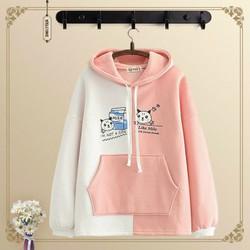 Áo hoodie phối màu áo khoác mùa thu áo chống nắng giá rẻ áo kiểu áo thời trang tuổi teen