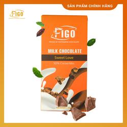 [Chính hãng-ĂN LÀ NGHIỆN] Kẹo Socola sữa nhân Hạt Cacao nibs_Milk Chocolate Figo Thanh 50gr Sweet love QÙA TẶNG  Valentine
