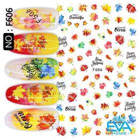Decal Dán Móng Tay 3D Nail Sticker Hoạ Tiết Lá Phong Đỏ Maple leaves F606 - 0010002710