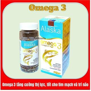 Viên dầu cá Alaska Om.ega 3 Coenzym Q10 bổ não, sáng mắt, khỏe mạnh tim mạch, tăng cường trí nhớ - Hộp 100 viên thành phần dầu cá 1000mg, EPA 180mg, DHA 120mg - Om.ega 3 Coenzym Q10 thumbnail