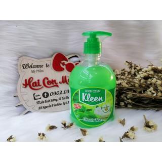 Sữa Rửa Tay Kleen Trà Xanh 500 ML - 509 thumbnail
