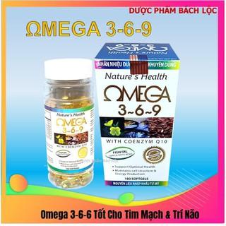 [hộp 100 viên] Viên dầu cá Ome.ga 369 Nature health Bổ não, sáng mắt, khỏe mạnh tim mạch, tăng cường trí nhớ - Hộp 100 viên thành phần dầu cá 1000mg, EPA 180mg, DHA 120mg - Ome.ga 369 Nature thumbnail