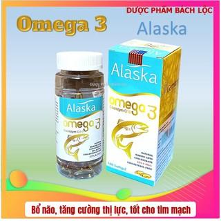 Viên dầu cá Alaska Om.ega 3 Coenzym Q10 bổ não, sáng mắt, khỏe mạnh tim mạch, tăng cường trí nhớ - Hộp 100 viên thành phần dầu cá 1000mg, EPA 180mg, DHA 120mg - Viên dầu cá Alaska Om.ega 3 thumbnail