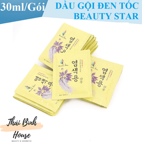 20 Gói dầu gội đen tóc Beauty Star Hàn Quốc gội là đen 30ml 1 gói - dau goi dau dầu gội đầu dau goi den toc - dentoc20