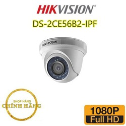 Camera HIKVISION DS-2CE56B2-IPF 2.0 Megapixel Full HD hàng chính hãng - BẢO HÀNH 24 THÁNG [ĐƯỢC KIỂM HÀNG] [ĐƯỢC KIỂM HÀNG]