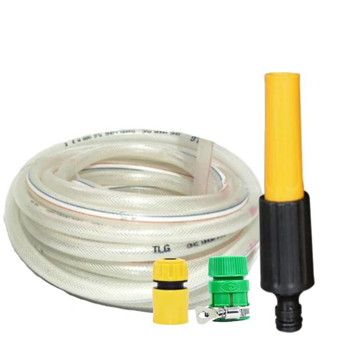 Bộ dây và vòi xịt tăng áp lực nước gấp 3 lần rửa xe tưới cây loại 5m 206622
