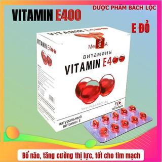 [Hộp 100 viên] Viên Uống Đẹp Da Vitamin E đỏ 4000mcg, Aloe vera 500mg Giúp sáng mịn da, chống lão hóa - - E đỏ 4000mcg, thumbnail