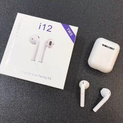 Tai Nghe Bluetooth I12 TWS 5.0 Không Dây Có Đế Sạc Cảm ứng Vân Tay [ĐƯỢC KIỂM HÀNG]