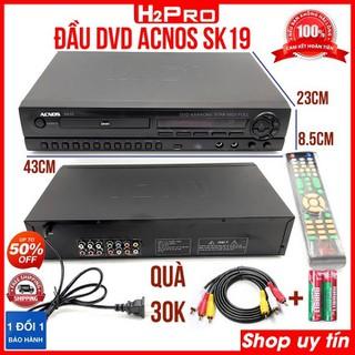 Đầu đĩa DVD Karaoke Acnos SK19 H2PRO, đầu karaoke ACNOS-USB, tặng dây av và đôi pin 30K - H2WW680 thumbnail