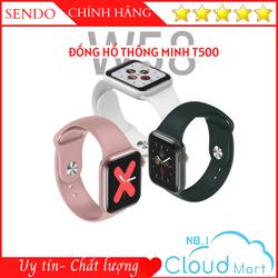 Đồng hồ thông minh T500 Seri 5 Thay được hình nền tùy ý từ điện thoại - Chống nước - Gọi điện nghe nhạc trực tiếp - Thông báo tin nhắn - Giao diện tổ ong 100% Tiếng Việt