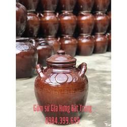 Chum sành loại 40 lít gốm sứ Gia Hưng Bát Tràng