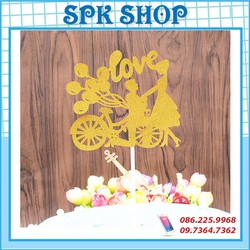 Cây Cắm Xe Đạp Tình Yêu Giấy Trang Trí Bánh Sinh Nhât Bánh Kem Spk Shop