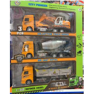 ĐỒ CHƠI BÁN BUÔN - mô hình 3 xe sắt công trình - KE4082 thumbnail